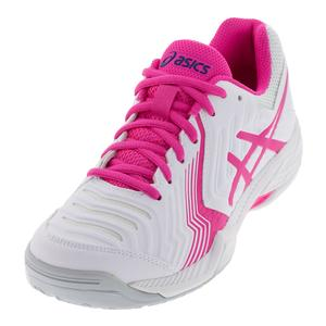 Women`s Gel-Game 6 Tennis Shoes White and Pink Glo