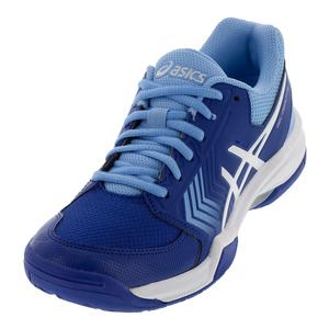 Women`s Gel-Dedicate 5 Tennis Shoes Monaco Blue and White