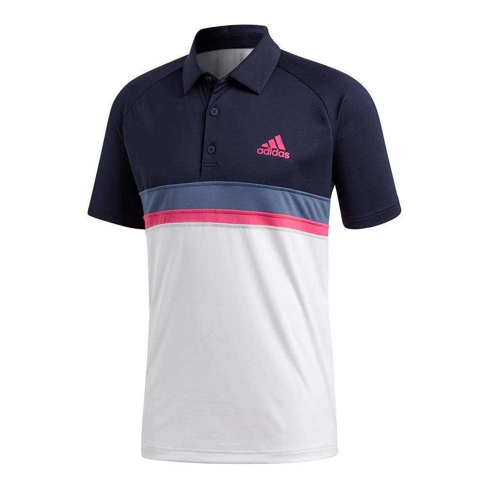 Men's Club Colorblocked Tennis Polo Legend Ink