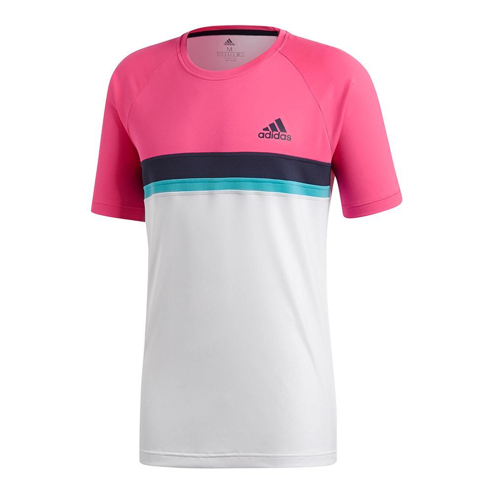 Men's Club Colorblocked Tennis Tee Shock Pink