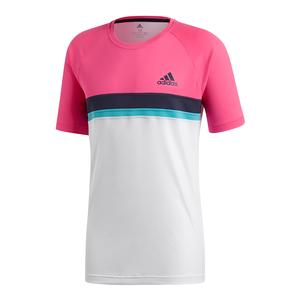 Men`s Club Colorblocked Tennis Tee Shock Pink