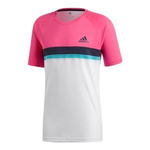 Men`s Club Colorblocked Tennis Tee Shock Pink