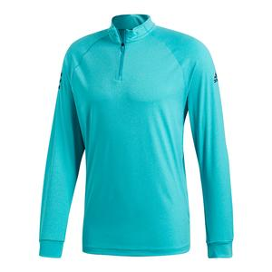 Men`s Club Half Zip Mid Layer Tennis Top Hi-Res Aqua