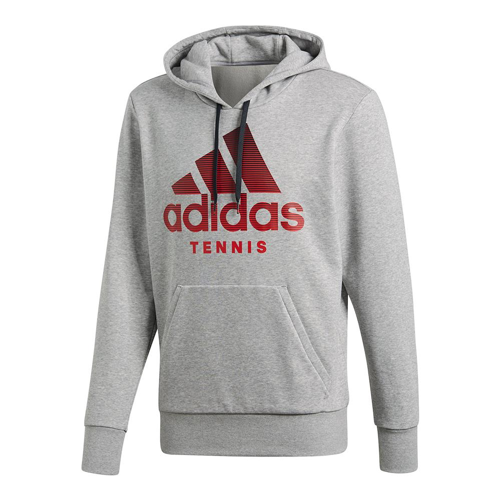 Men's Category Graphic Tennis Hoody Medium Gray Heather