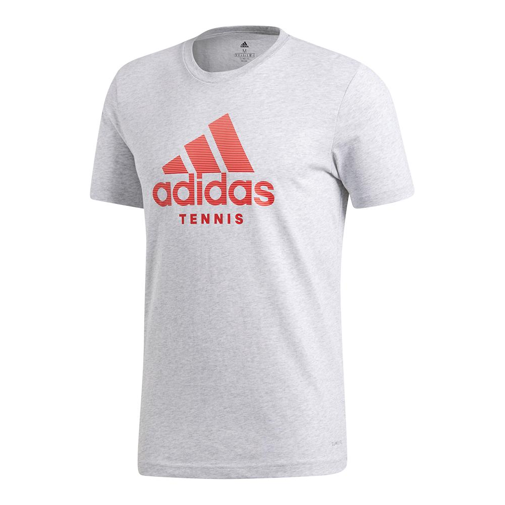 Men's Tennis Badge Of Sport Tee Light Gray Heather