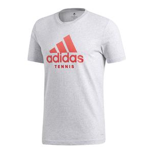 Men`s Tennis Badge of Sport Tee Light Gray Heather