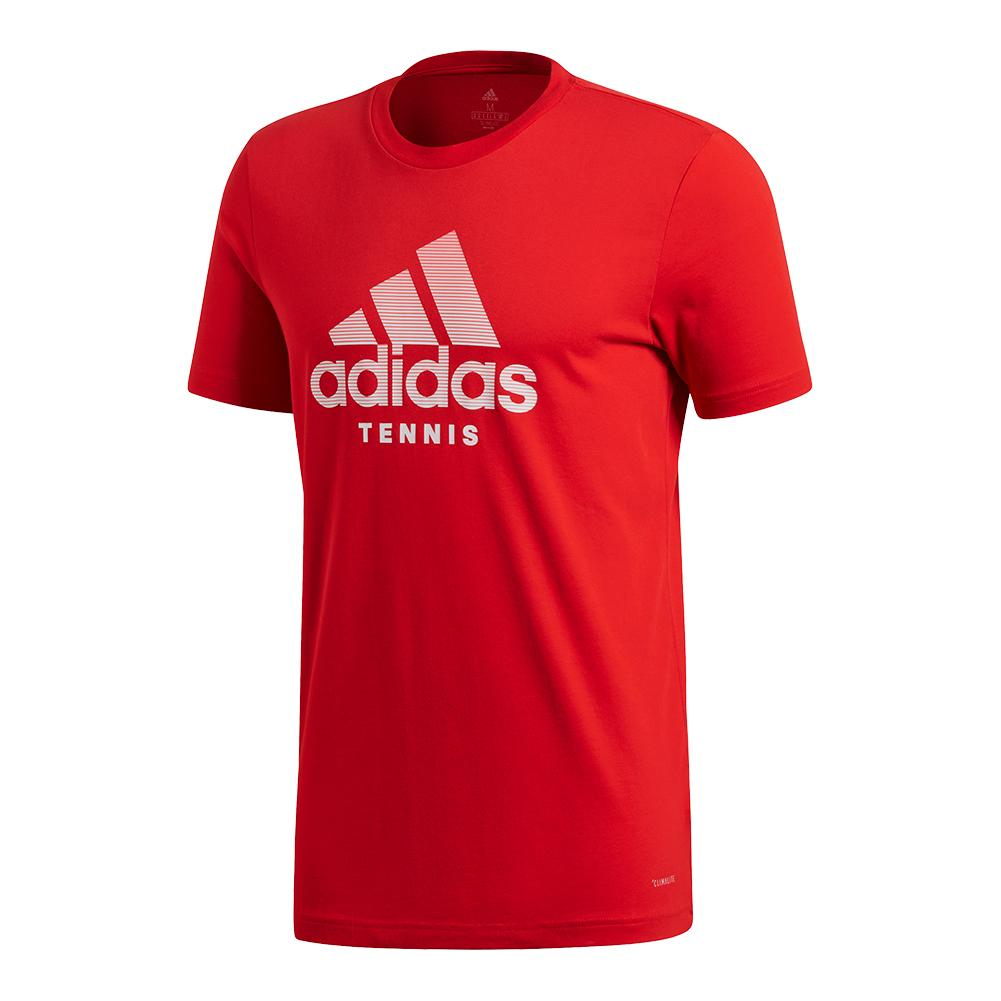 Men's Tennis Badge Of Sport Tee Scarlet