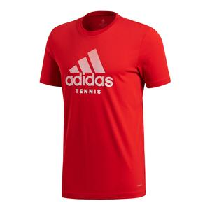 Men`s Tennis Badge of Sport Tee Scarlet