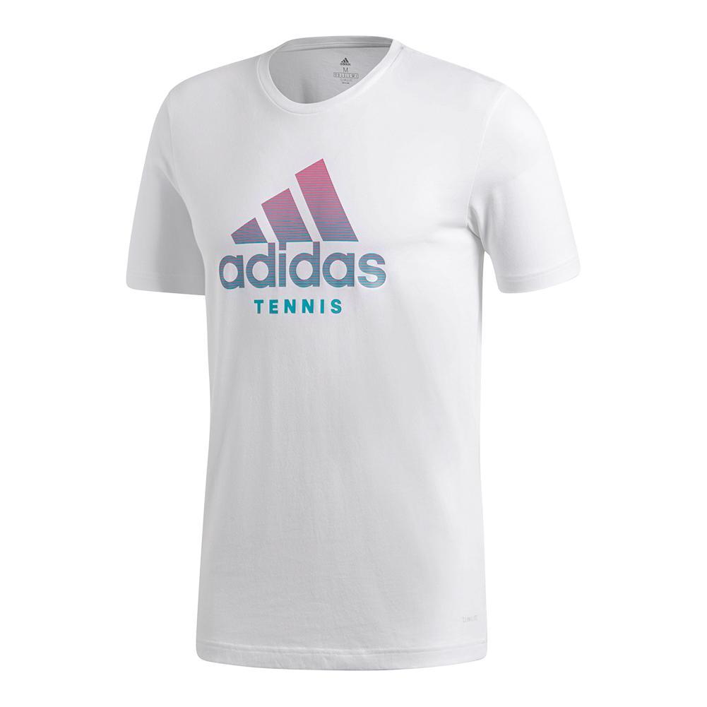 Men's Tennis Badge Of Sport Tee White