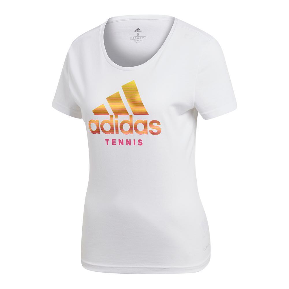 Women's Tennis Badge Of Sport Tee White