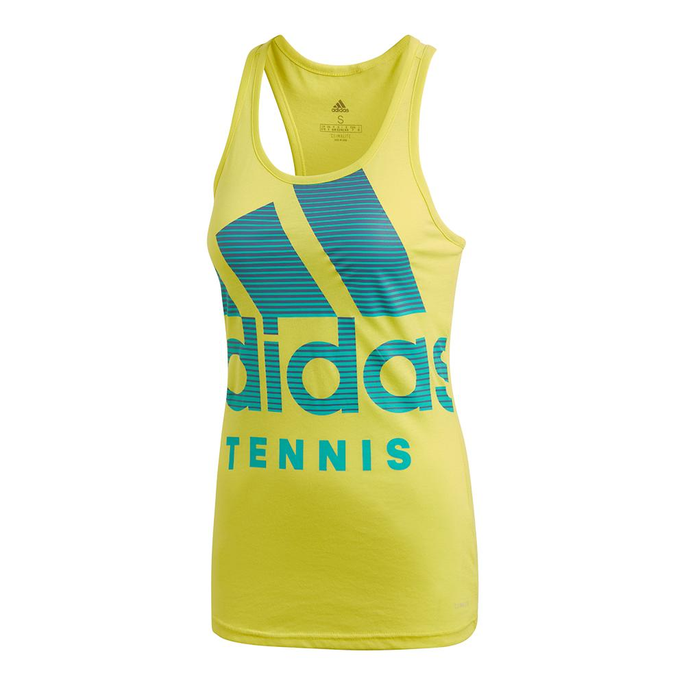 Women's Tennis Badge Of Sport Tank Shock Yellow