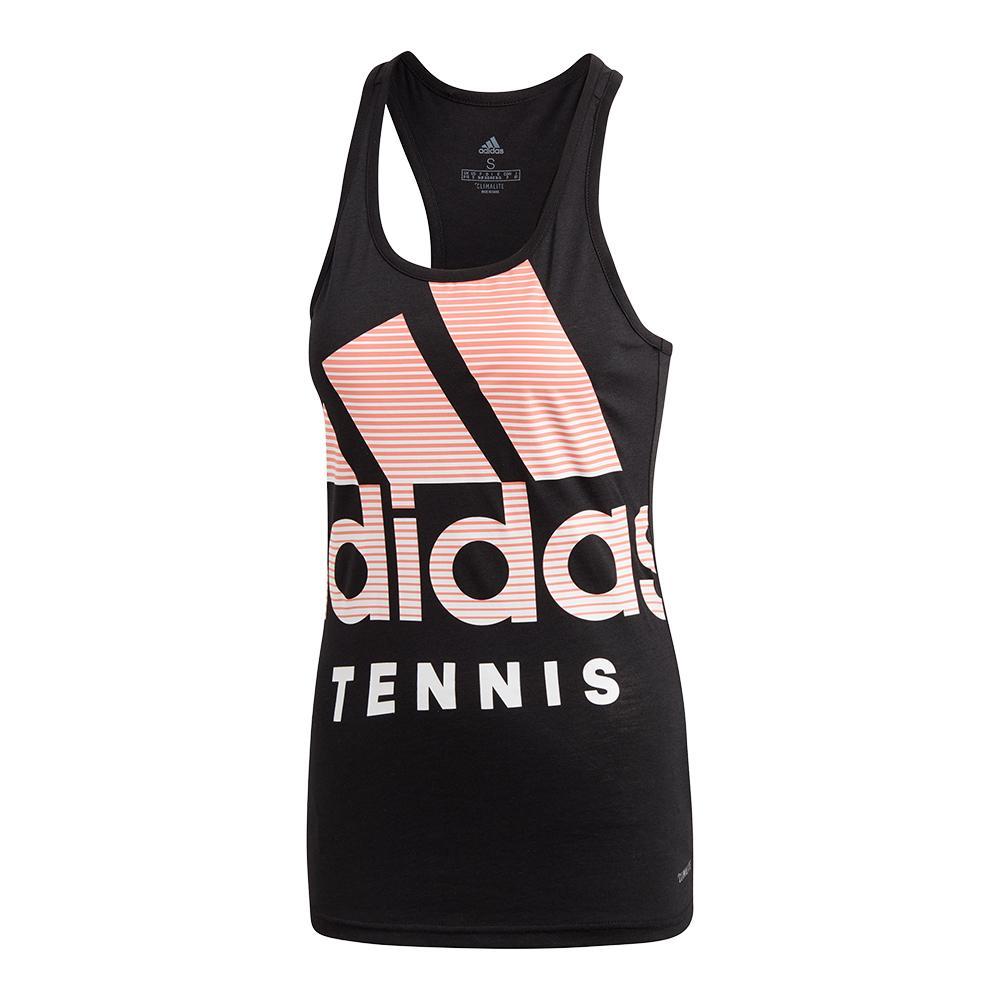 Women's Tennis Badge Of Sport Tank Black