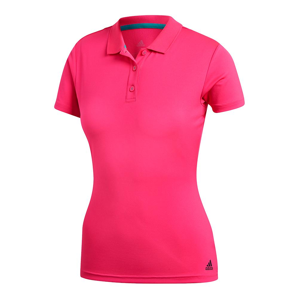 Women's Club Tennis Polo Shock Pink