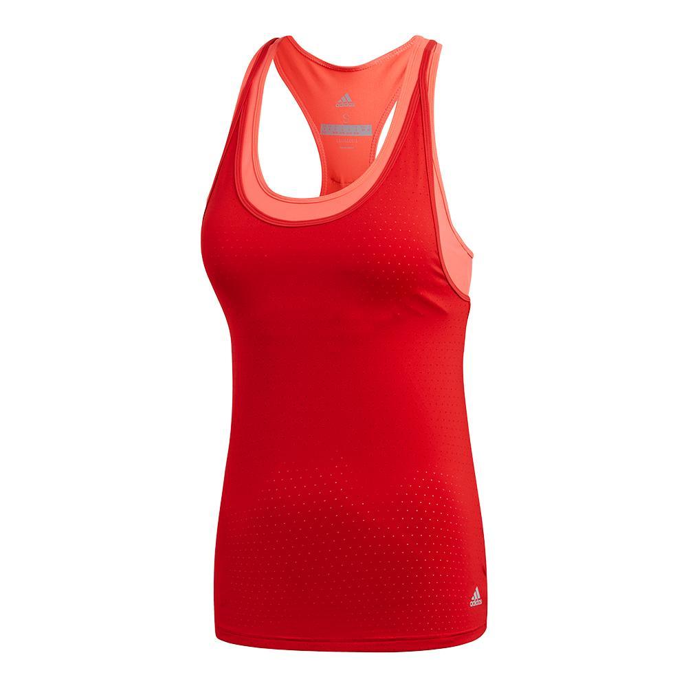 Women's Advantage Strappy Tennis Tank Scarlet