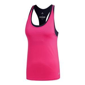 Women`s Advantage Strappy Tennis Tank Shock Pink