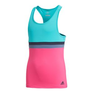 Girls` Club Tennis Tank Hi-Res Aqua