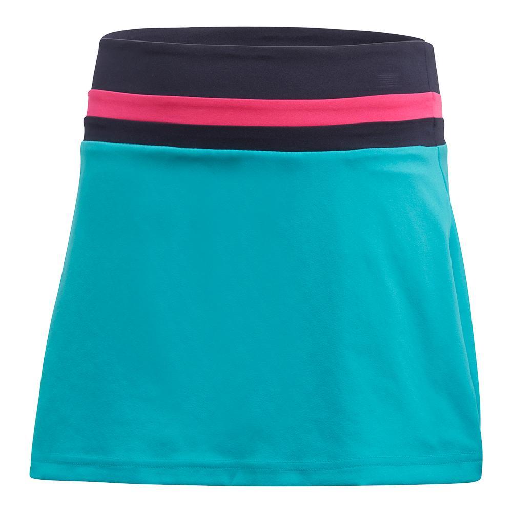 Girls ` Club Tennis Skort Hi- Res Aqua
