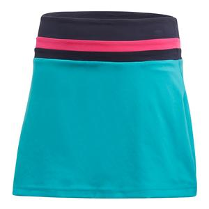 Girls` Club Tennis Skort Hi-Res Aqua