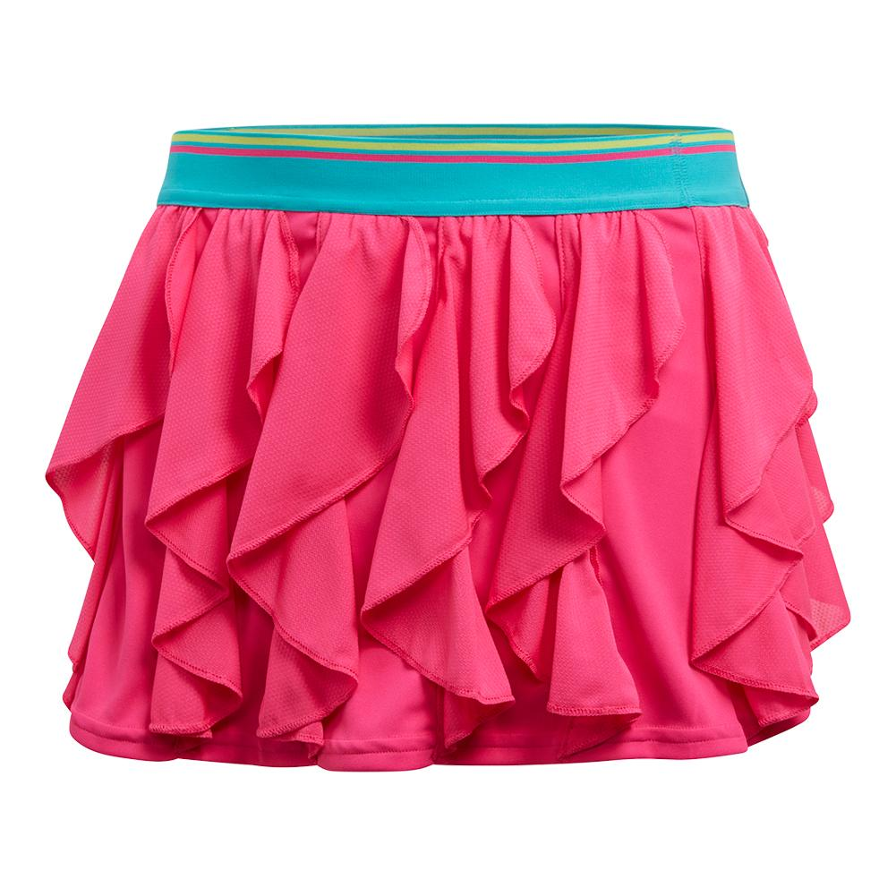 Girls ` Frilly Tennis Skort Shock Pink