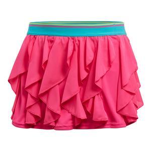 Girls` Frilly Tennis Skort Shock Pink