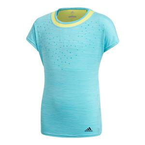 Girls` Dotty Tennis Tee Hi-Res Aqua