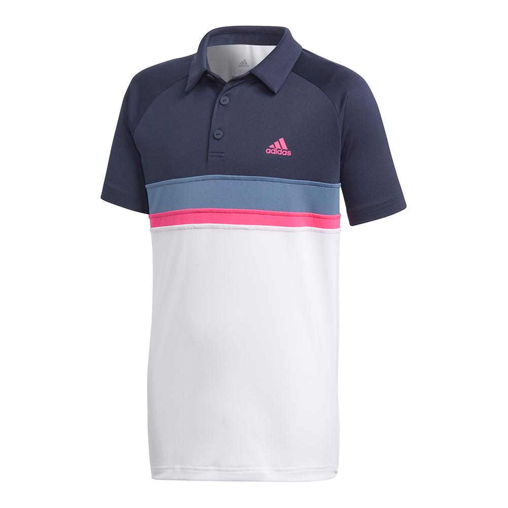 Boys ` Club Colorblock Tennis Polo Legend Ink
