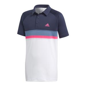 Boys` Club Colorblock Tennis Polo Legend Ink