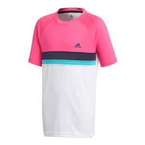 Boys` Club Colorblock Tennis Tee Shock Pink