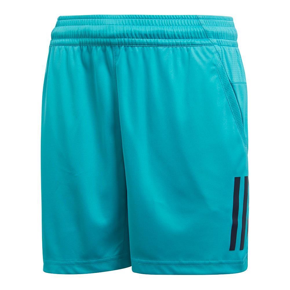 Boys ` Club 3 Stripe Tennis Short Hi- Res Aqua