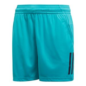 Boys` Club 3 Stripe Tennis Short Hi-Res Aqua