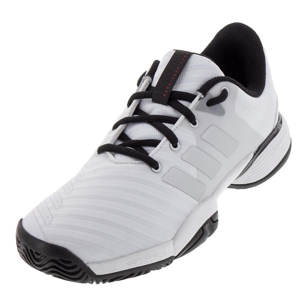 Juniors ` Barricade 2018 Tennis Shoes White And Matte Silver