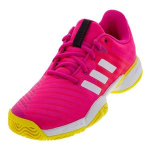 Juniors` Barricade 2018 Tennis Shoes Shock Pink and White