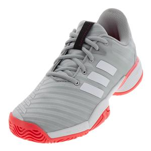 Juniors` Barricade 2018 Tennis Shoes Matte Silver and White