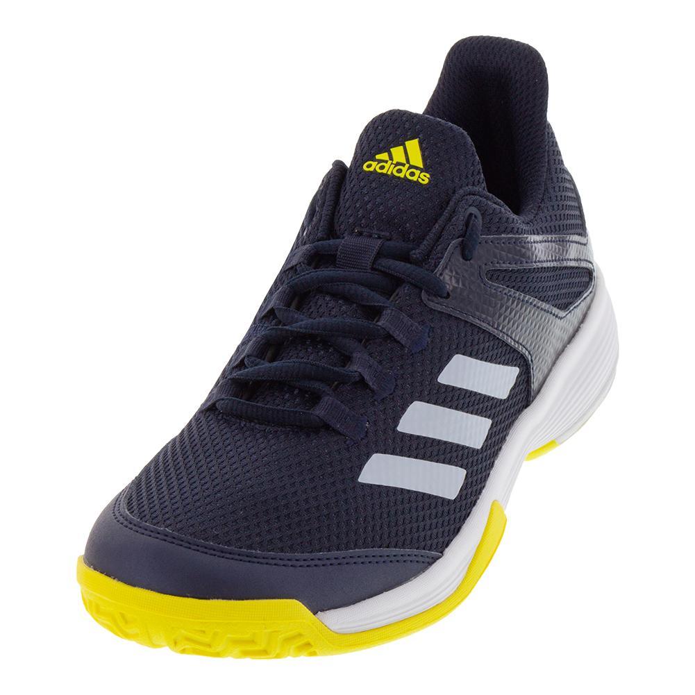Juniors ` Adizero Club Tennis Shoes Legend Ink And White