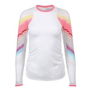 Women`s Velocity Long Sleeve Tennis Top White