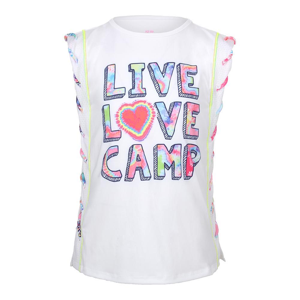 Girls ` Tennis Muscle Tank Live Love Camp