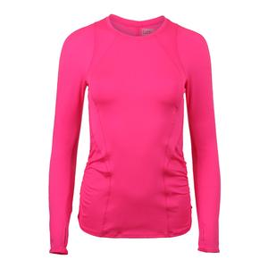 Women`s Contour Long Sleeve Tennis Top Shocking Pink