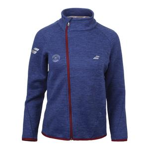Women`s Wimbledon Performance Tennis Jacket Estate Blue Heather