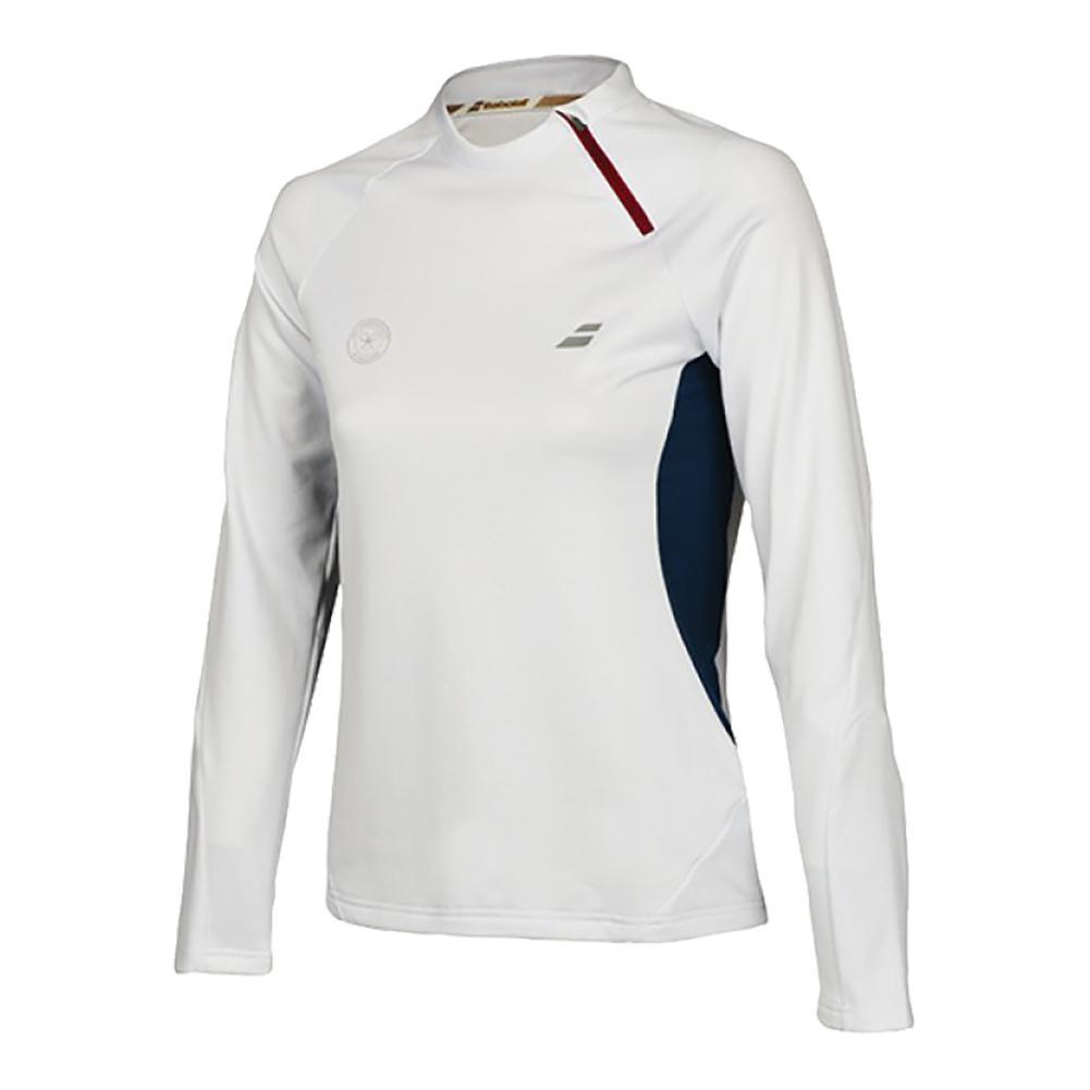 Women's Performance 1/2 Zip Tennis Sweatshirt White