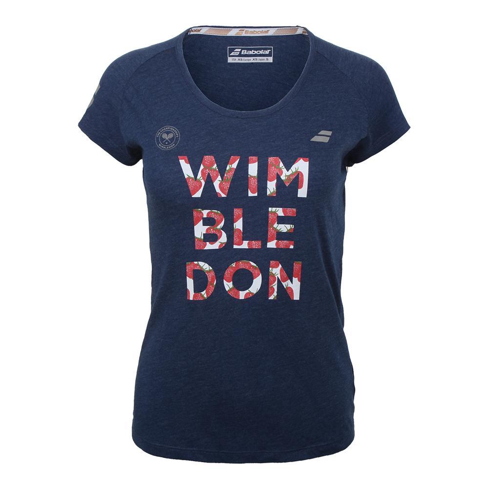 Women's Wimbledon Core Cotton Tennis Tee Estate Blue