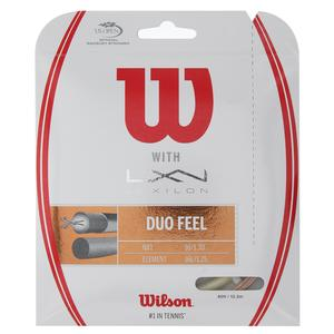 Duo Feel Element 125 and NXT 16 Tennis String