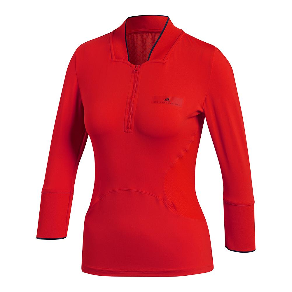 Women's Stella Mccartney Long Sleeve Tennis Top Core Red