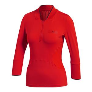 Women`s Stella McCartney Long Sleeve Tennis Top Core Red