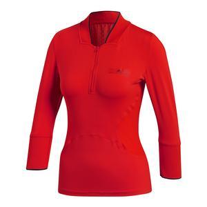 Women`s Stella McCartney Long Sleeve Tennis Top Core Red