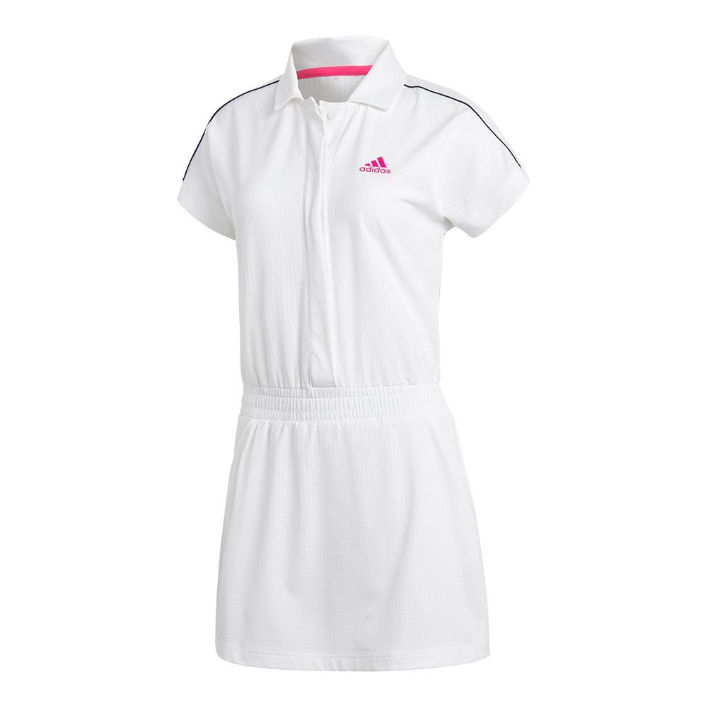 Women's Seasonal Tennis Romper Dress White