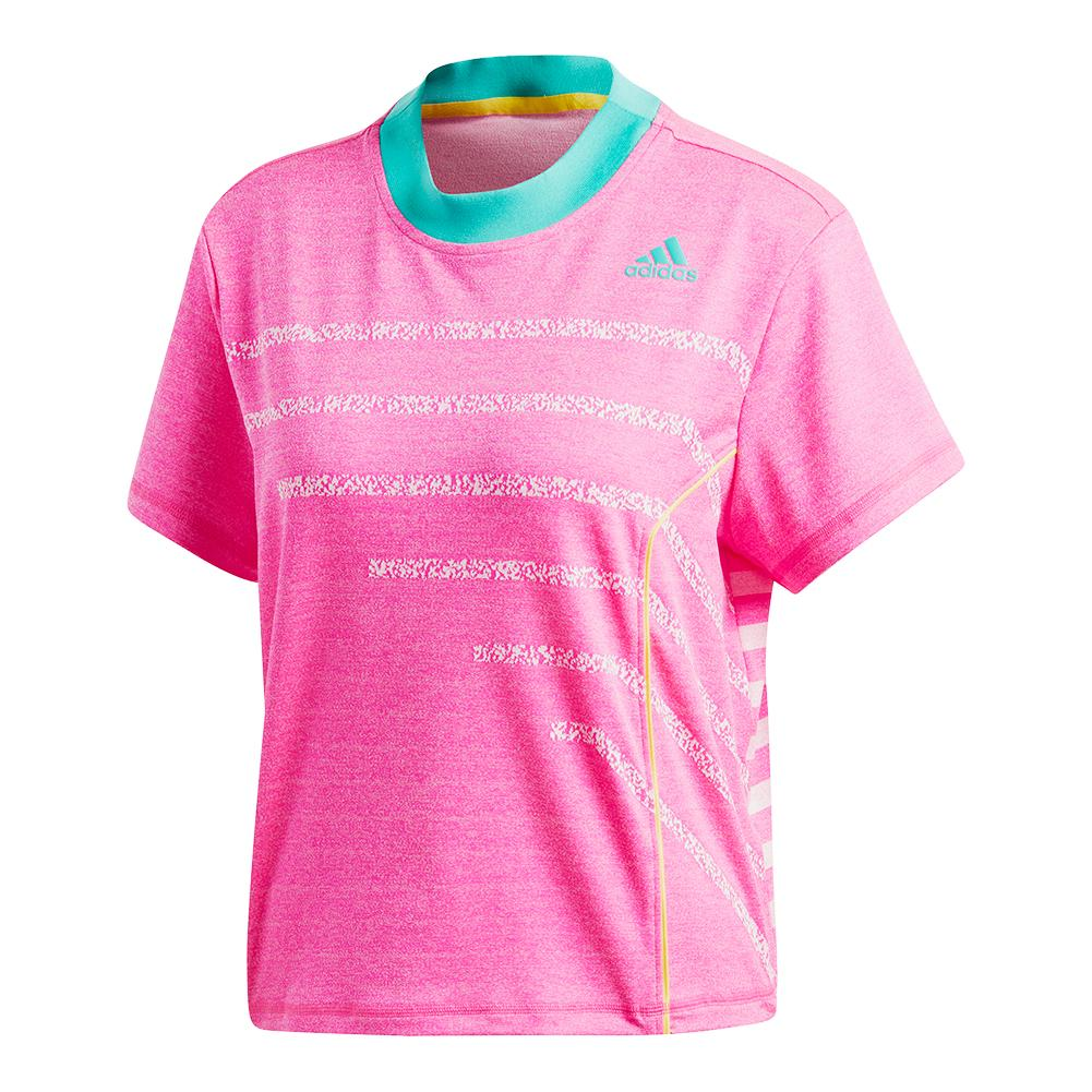 Women's Seasonal Tennis Top Shock Pink