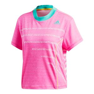 Women`s Seasonal Tennis Top Shock Pink