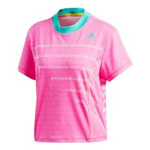 Women`s Seasonal Tennis Top Shock Pink