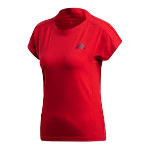 Women`s Barricade Tennis Top Scarlet