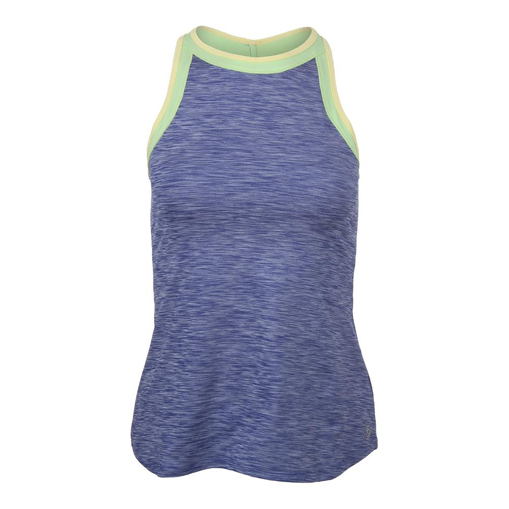 Women's High Top Tennis Tank Royal Blue And Paradise Green